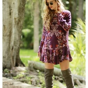 Free People Purple Floral Dress